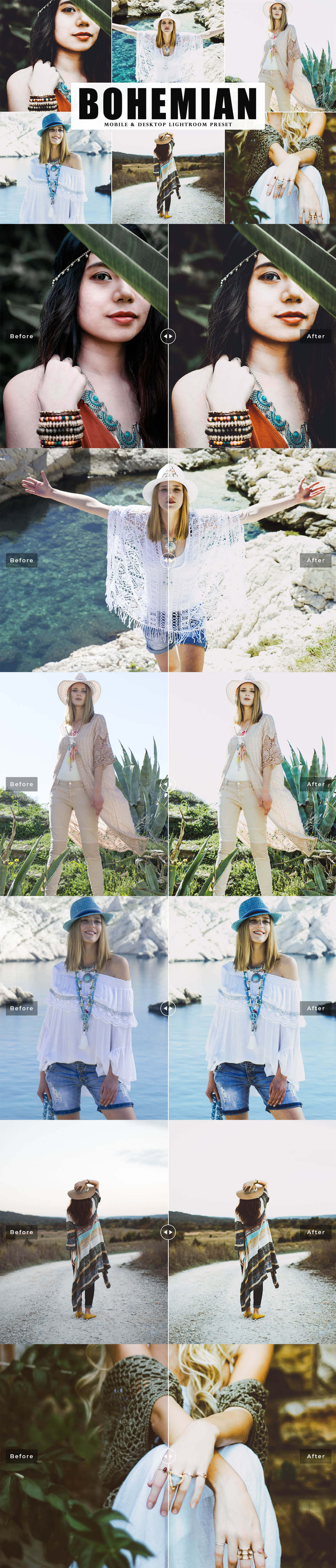e Bohemian Lightroom Preset