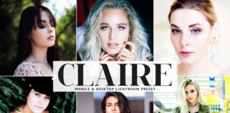 Free Claire Lightroom Preset