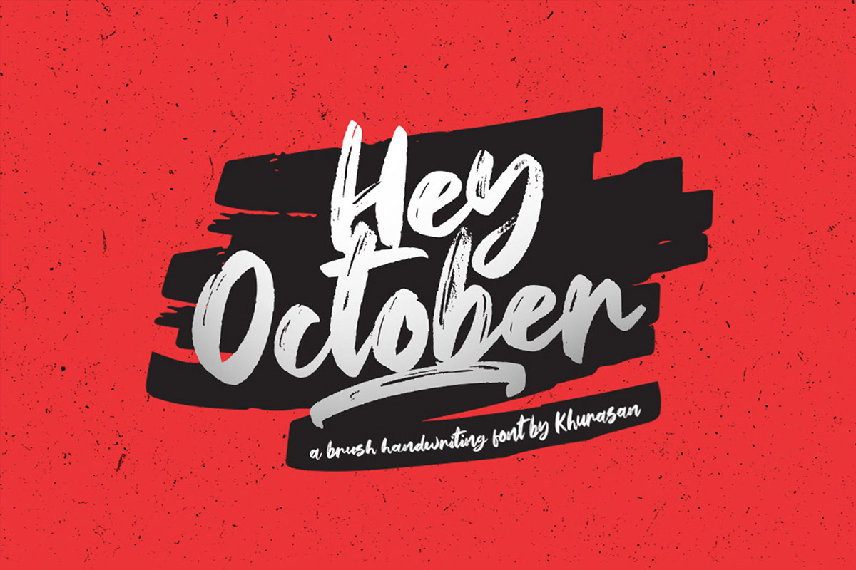 Free Hey October Brush Font