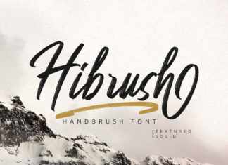 Free Hibrush Handbrush Font