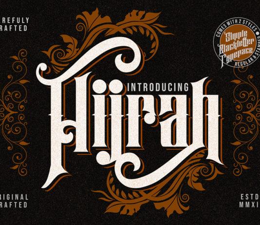 Free Hijrah Blackletter Font