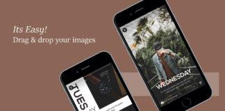 Free Instagram Stories Brown Leather Set