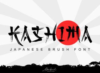 Free Kashima Japanese Brush Font
