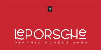Free Leporsche Sans Serif Font