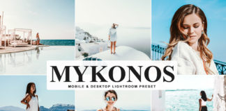 Free Mykonos Lightroom Preset