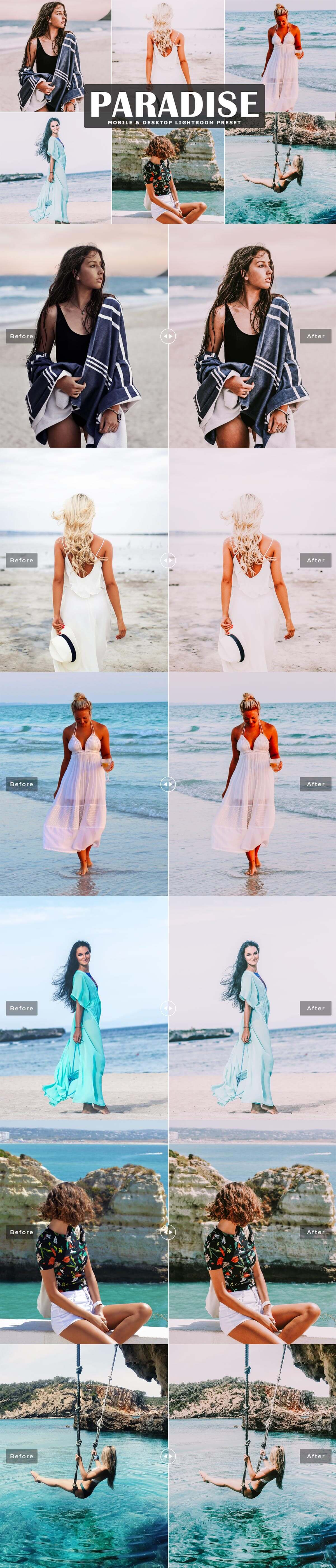 Free Paradise Lightroom Preset
