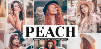 Free Peach Lightroom Preset