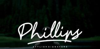 Free Phillips Signature Font