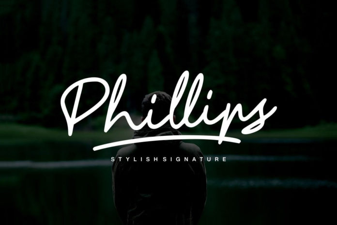 Free Phillips Signature Font