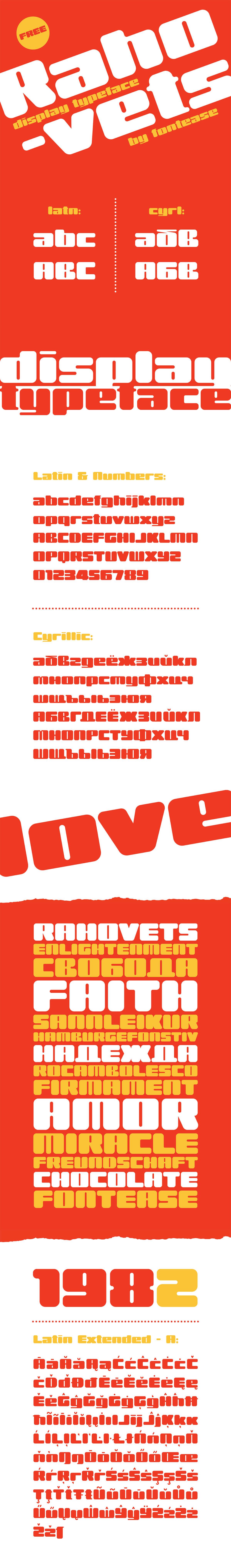Free Rahovets Display Font