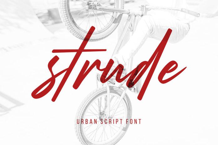 Free Strude Script Font