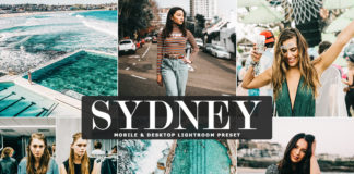 Free Sydney Lightroom Preset