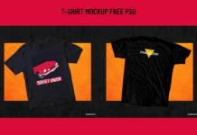Free T-Shirt PSD Mockup Pack