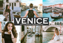 Free Venice Lightroom Preset