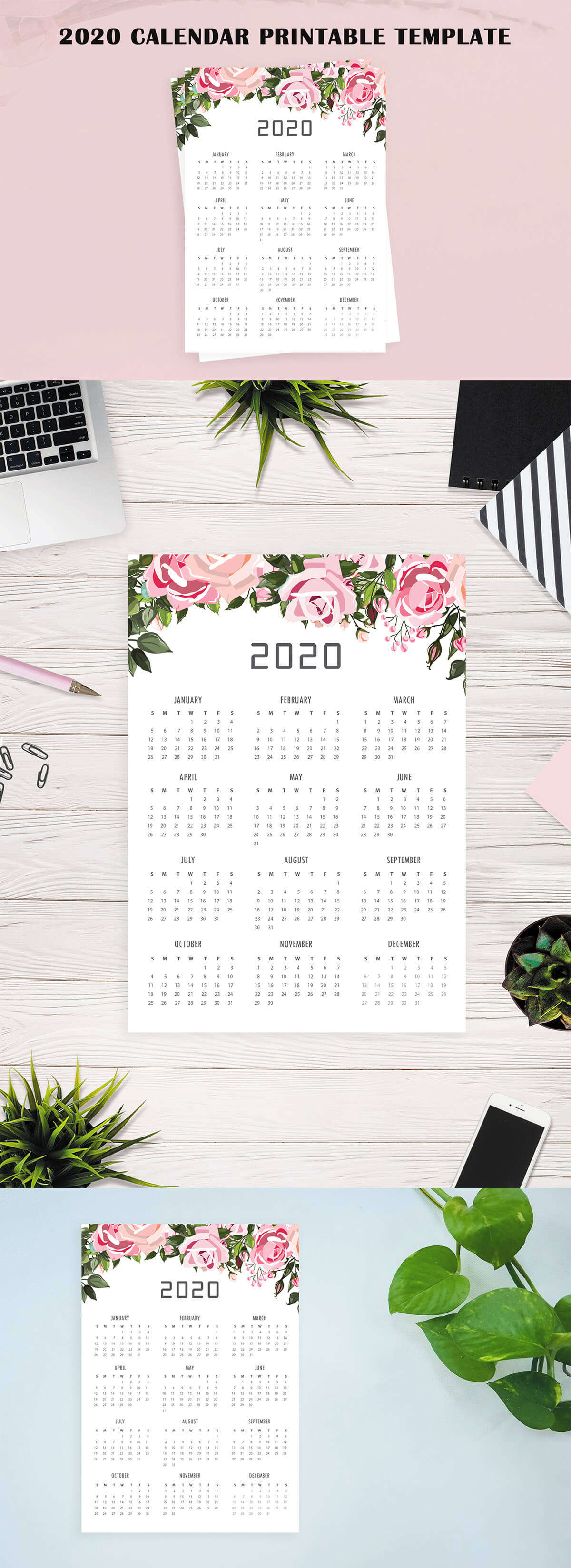 Free 2020 Calendar Printable Template