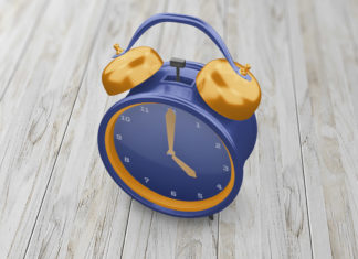 Free Alarm Clock Mockup