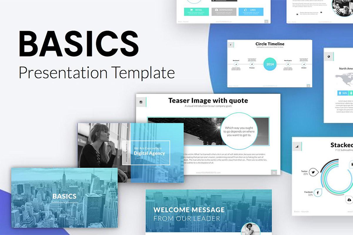 free basics minimal keynote template creativetacos. Black Bedroom Furniture Sets. Home Design Ideas