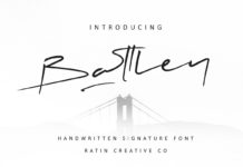 Free Battley Handwritten Signature Font