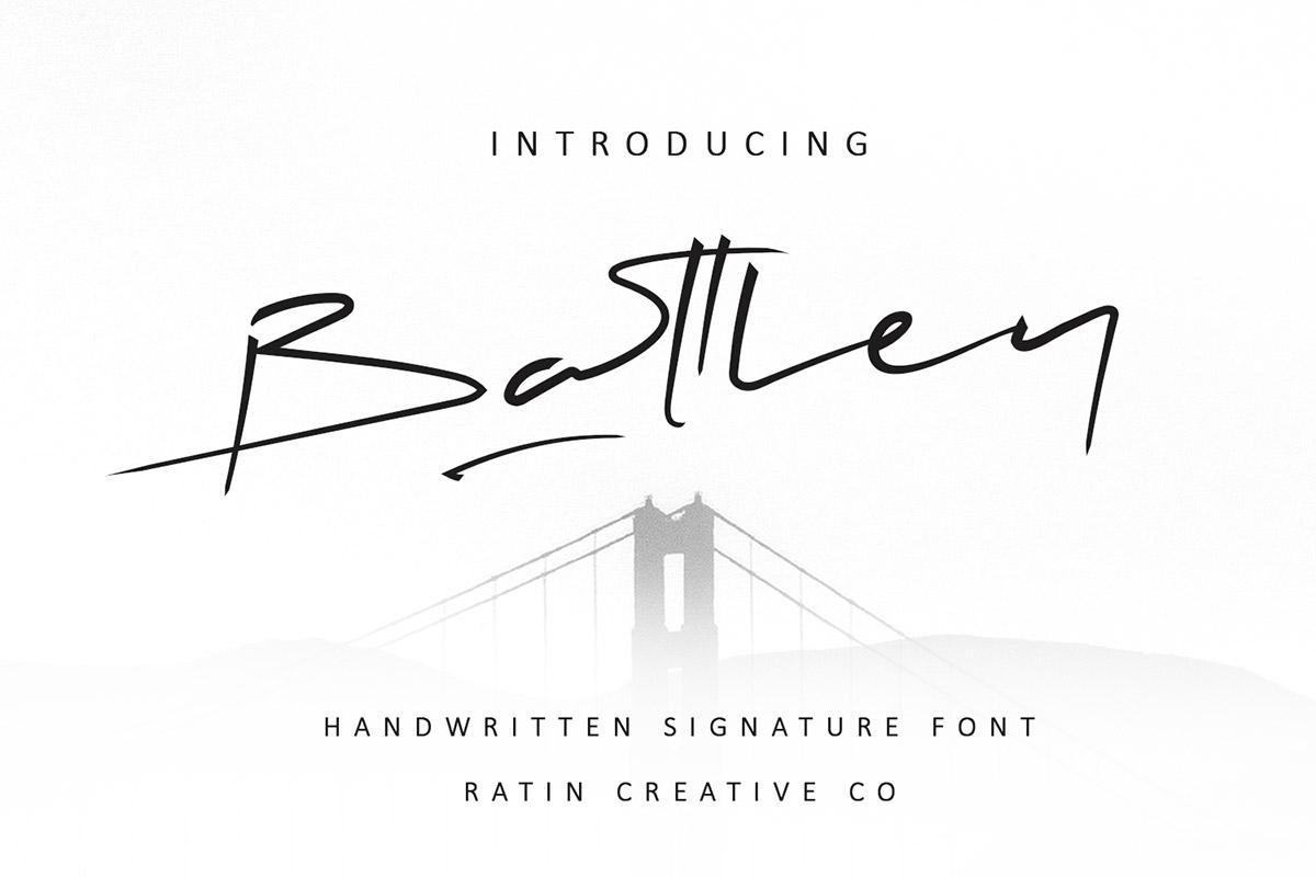 Free Battley Handwritten Signature Font