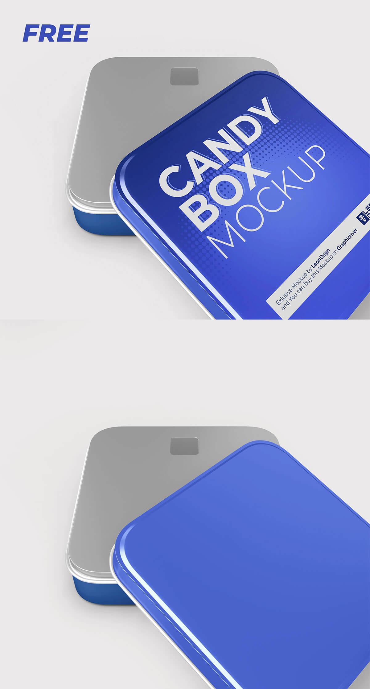 Free Candy Box Mockup