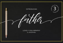Free Fathir Calligraphy Font