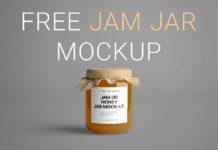Free Jam Jar Scene Mockup