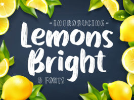 Free Lemons Bright Display Font