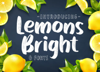 Free Lemons Bright Display Font
