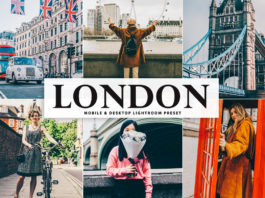 Free London Lightroom Preset