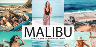 Free Malibu Lightroom Preset