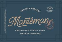 Free Manteman Monoline Script Font