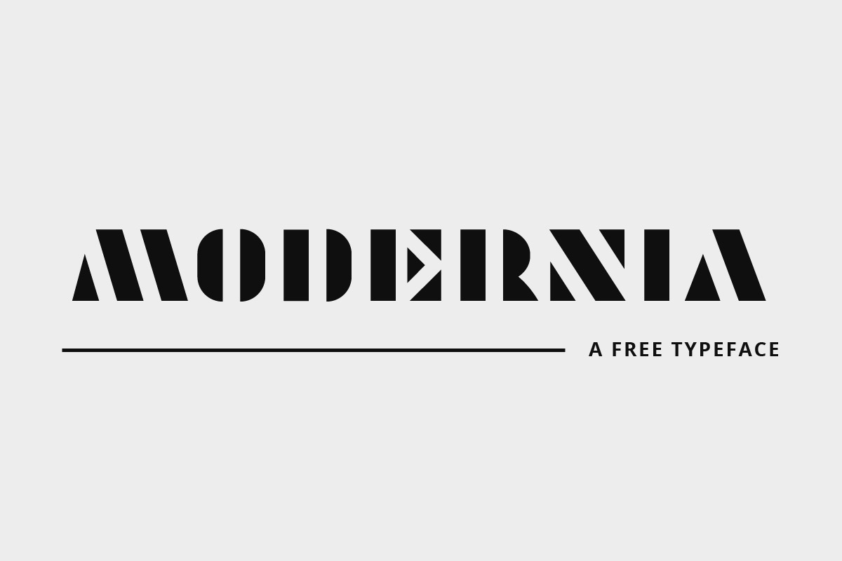 Free Modernia Geometric Font