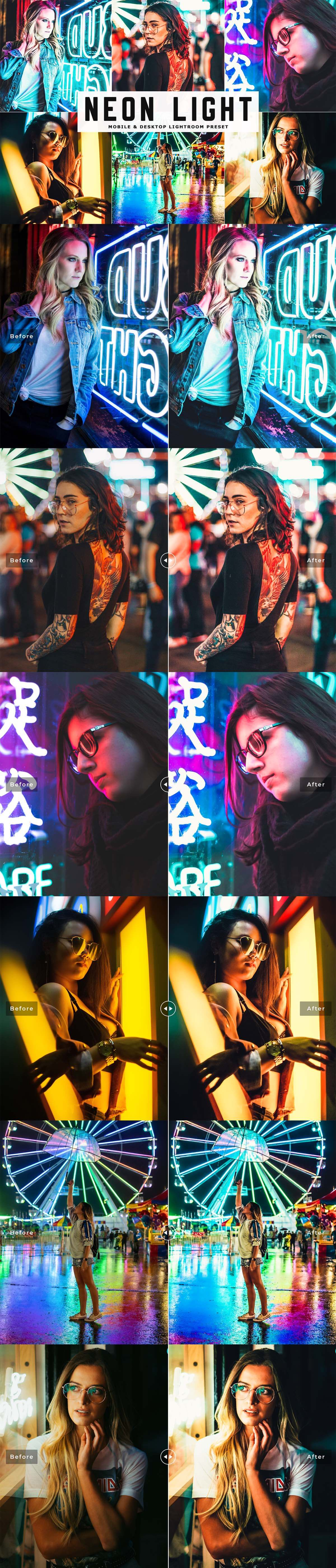 Free Neon Light Lightroom Preset