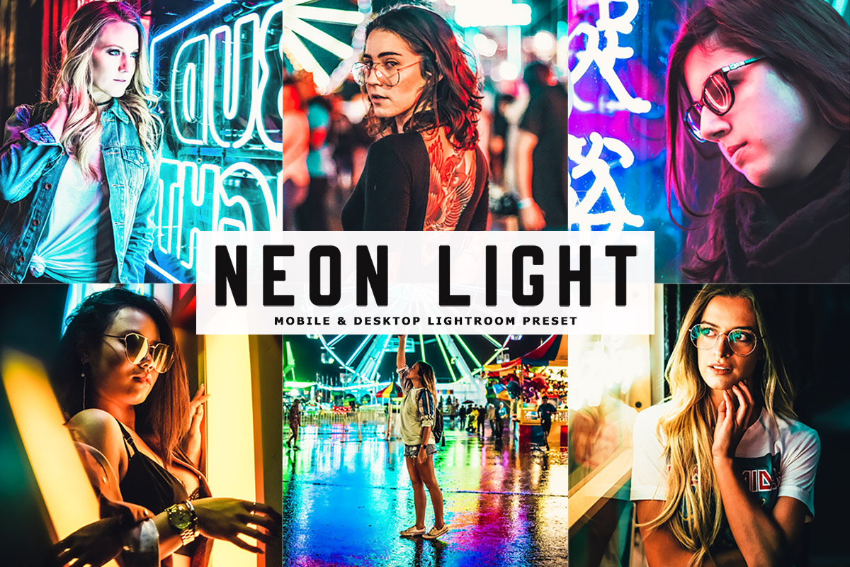 Free Neon Light Lightroom Preset