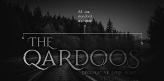 Free Qardoos Display Serif Font
