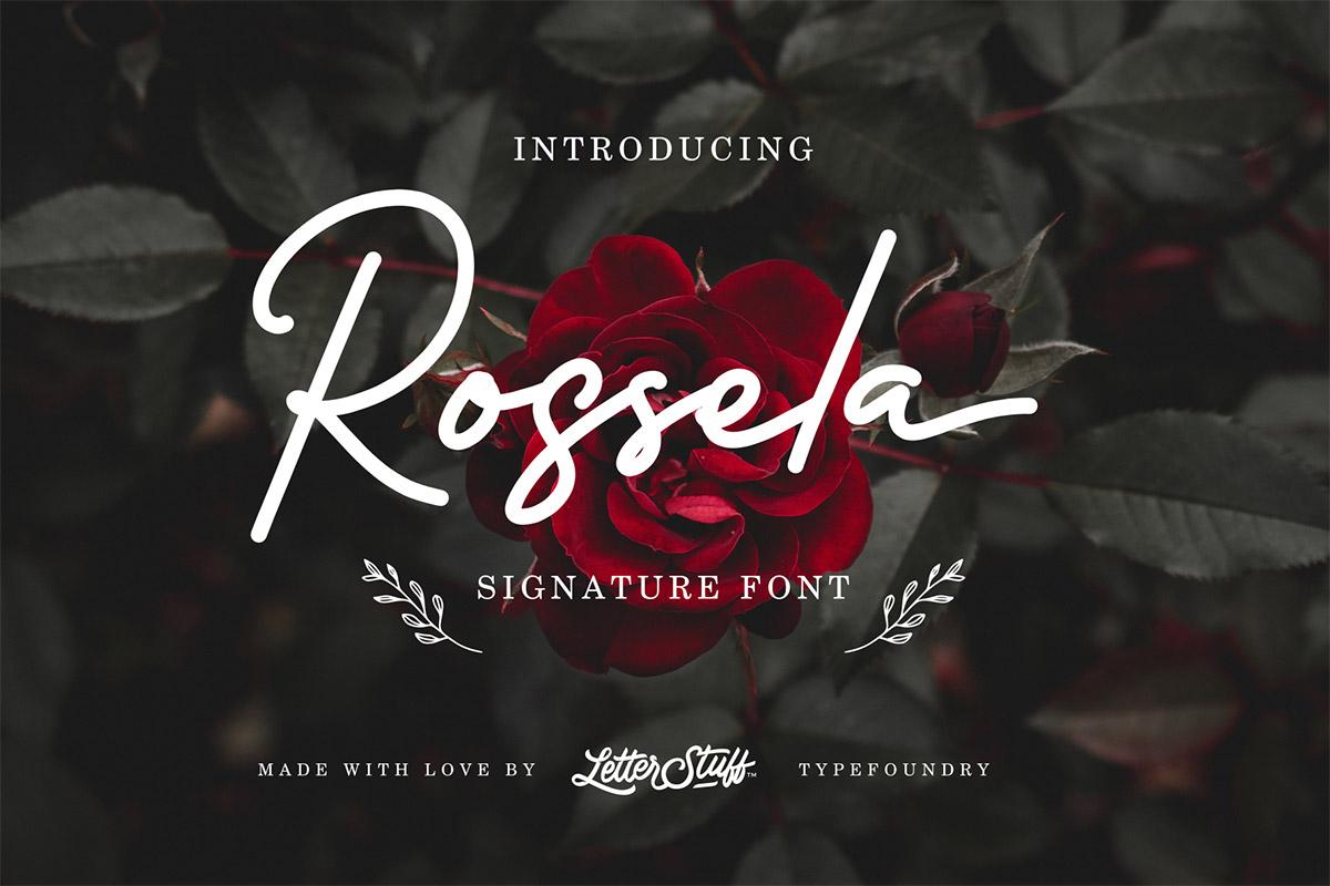 Free Rossela Signature Font