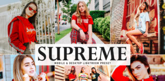 Free Supreme Lightroom Preset