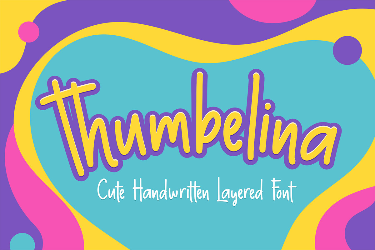 Free Thumbelina Handwritten Layered Font