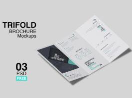 Free Trifold Brochure Mockup Pack