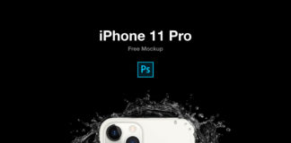 Free iPhone 11 Pro PSD Mockup Pack