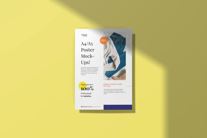 Free A4 Poster Mockup