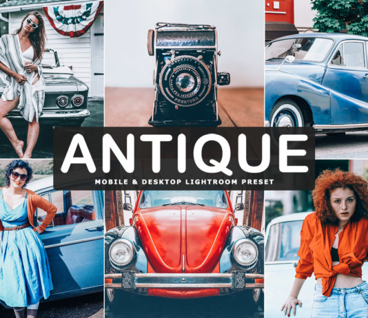 Free Antique Lightroom Preset
