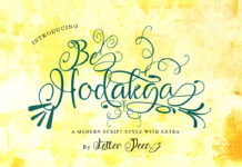 Free Be Hodakga Modern Script Font
