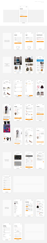 Free Ecommerce Figma App UI Kit