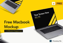 Free Macbook Set Mockup