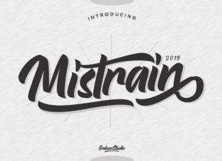 Free Mistrain Modern Script Font
