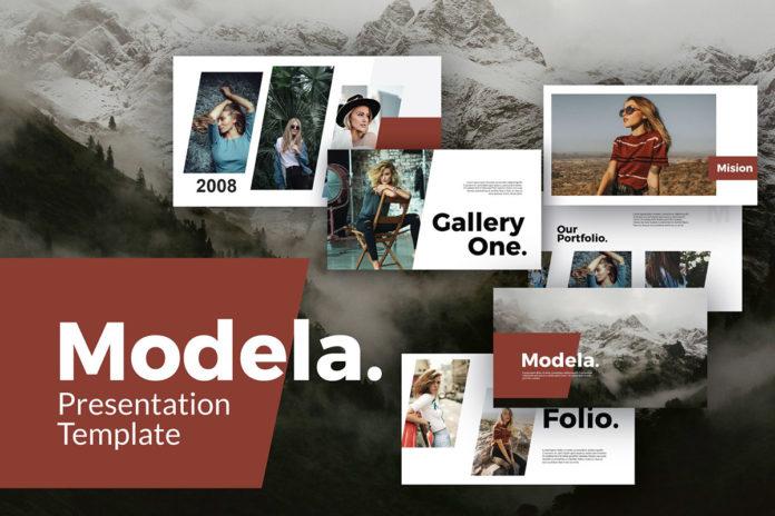 Free Modela Powerpoint Template