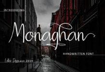 Free Monaghan Handwritten Font