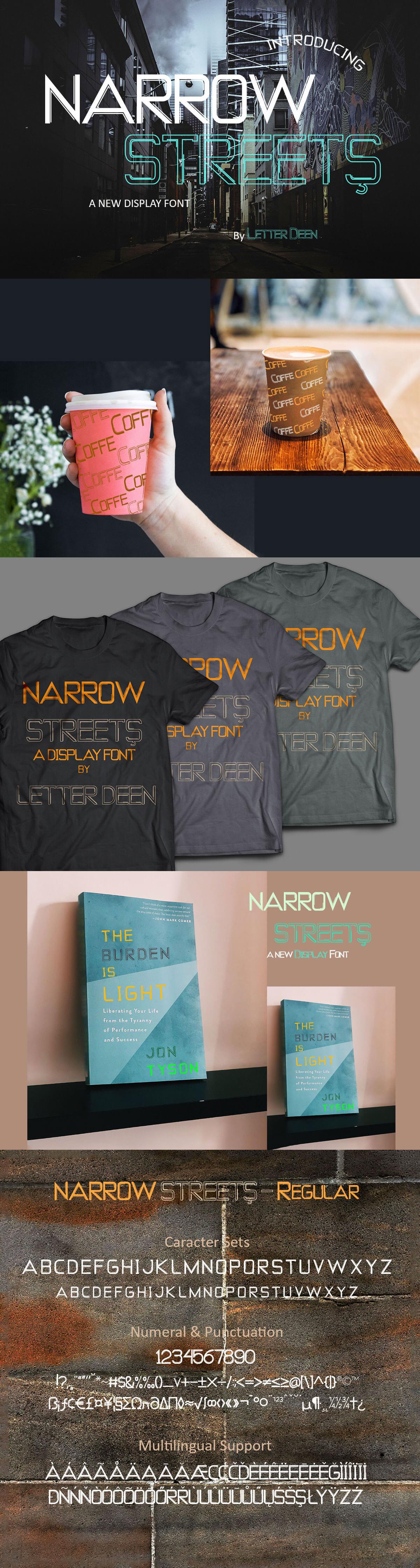 Free Narrow Streets Display Font