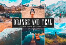 Free Orange and Teal Lightroom Preset